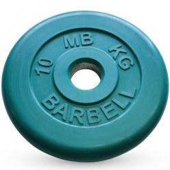 Диск обрезиненный зеленого цвета, 51 мм МВ Barbell MB-PltC51-10