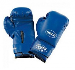 Перчатки боксерские GOLD BGG-2030, 10oz, к/з, синий