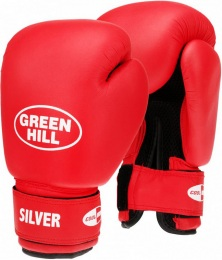 Перчатки боксерские SILVER BGS-2039, 6oz, к/з, красный
