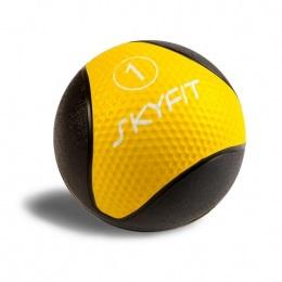 Набивной мяч для кроссфита 1 кг, желтый SF – MB1K