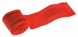 Бинт боксерский С-311, 4,5м, эластик, красный