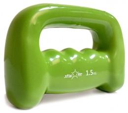 Гантель виниловая DB-103 1,5 кг, зеленая