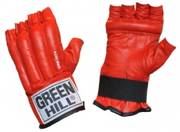 Перчатки для бокса снарядные ROYAL CMR-2076, шингарды, кожа, красный