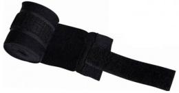 Бинт боксерский С-311, 4,5м, эластик, черный