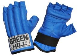 Перчатки снарядные ROYAL CMR-2076, шингарды, кожа, синий