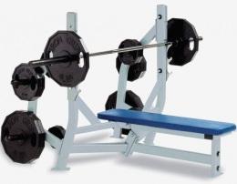 Hammer Strength HS-4012 Скамья для жима лежа (с органайзерами)