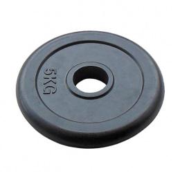 Диск для штанги обрезиненный 51 мм 5 кг черный JOHNS
