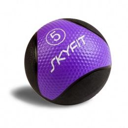 Набивной медицинский мяч 5 кг, фиолетовый SF – MB5K