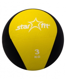 Медбол Professional 3 кг, желтый