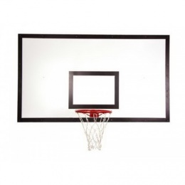 Щит баскетбольный игровой 1050х1800 мм ФАНЕРА (толщина фанеры 15 мм) на металлокаркасе пристенный