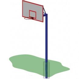 Стойка баскетбольная уличная одноопорная, вынос 1200 мм