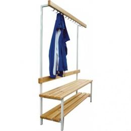 Скамья для раздевалок с вешалкой (односторонняя) 2 м