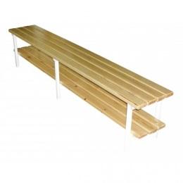 Скамья для раздевалок без спинки 1,5 м