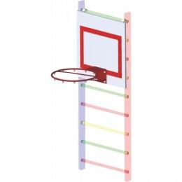 Щит баскетбольный навесной на шведскую стенку 700х700 мм, ФАНЕРА