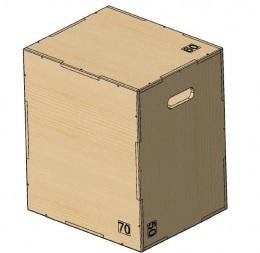 Опора для прыжков Плиобокс (PLYO BOX) фанера, PROFI-FIT, 3 в 1, 50-60-70 см