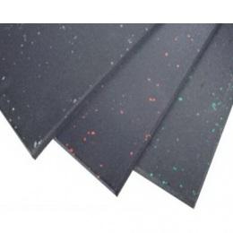 Коврик резиновый, черный, с цветными вкраплениями, PROFI-FIT. Размер: 500*500*15 мм