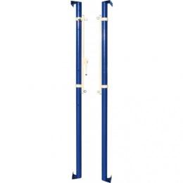 Стойки волейбольные универсальные пристенные с механизмом натяжения троса