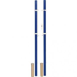 Стойки волейбольные универсальн. со стаканами, крышками и механизмом натяжения троса