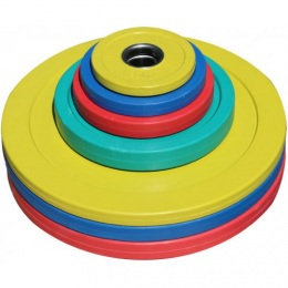 """Диск для кроссфит-штанги обрезиненный цветной """"SQUARE"""" D-51, 1,25 кг"""