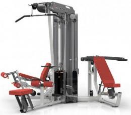 Aerofit ES3000 3-х стековая мультистанция, тяга сверху, гребная тяга, сгибание и разгибание ног, многопозиционный жим от груди и плеч, 200ф