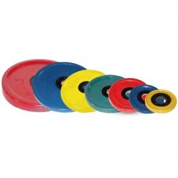 Набор обрезиненных дисков, цветные 1,25-25 кг (51мм) Евро-Классик