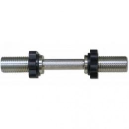 Гриф для гантели 50 мм хромированный, 390 мм. MB-BarM50-M390B