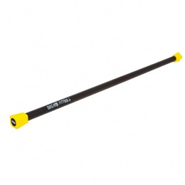Палка Бодибар для занятия фитнесом 12 кг, FT желтый наконечник