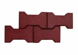 Резиновое покрытие брусчатка «Катушка» 40 мм, 40 штук