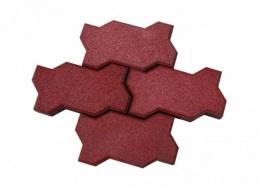 Резиновое покрытие брусчатка «Волна» 40 мм, 43 штуки