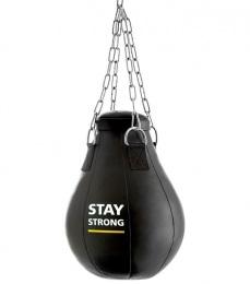 Груша боксерская подвесная Е522, кожзам, 12 кг, черный