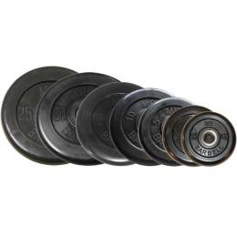 Набор обрезиненных дисков, черные Barbell, D-51 мм, 1,25-25 кг, Стандарт