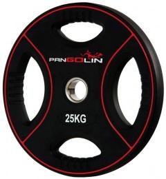 Диск олимпийский полиуретановый с 4-мя хватами 25 кг PANGOLIN WP012PU