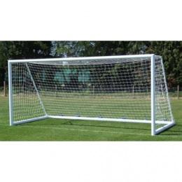Сетка футбол Д=2,2мм, яч.100*100, цв.белый/зеленый. Размер 2.5*7.5*2.0м. ПП