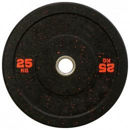 Бамперный диск для кроссфита 450 мм. с цветными вкраплениями D-51, 25 кг