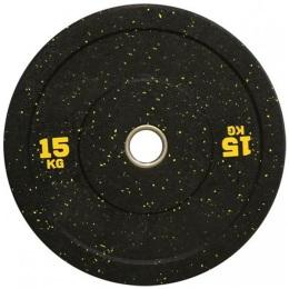 Диск для штанги бамперный 450 мм. с цветными вкраплениями D-51, 15 кг