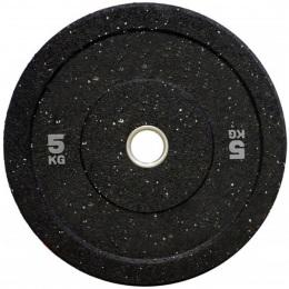 Бамперный диск для штанги 450 мм. с цветными вкраплениями D-51, 5 кг