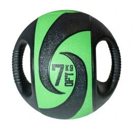 Мяч тренировочный (медицинбол) с хватами, 7 кг