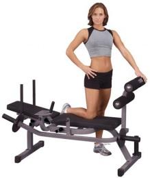 Body Solid Скамья горизонтальная для тренировки мышц брюшного пресса на свободных весах GAB100