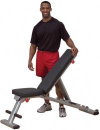 Body Solid Домашняя скамья с регулируемым углом наклона складная GFID225