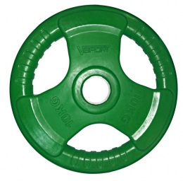 Диск олимпийский 51 мм 10 кг обрезин. цветной LC-10