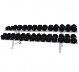 Barbell Гантельный ряд обрезиненный от 32 до 50 кг. с шагом 2 кг. 10 пар.