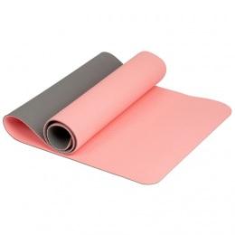 Коврик для йоги 6 мм TPE розовый
