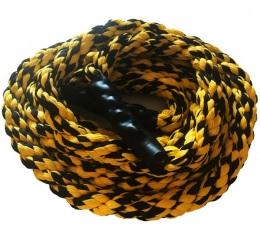 Канат тренировочный для кроссфит, PROFI-FIT, D-50 мм, L=6 м черно-желтый
