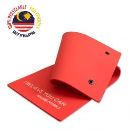 Мат для аэробики 10 мм красный с кольцами