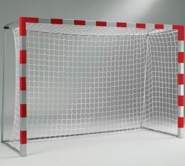 Сетка гандбол/мини-футбол Д=2,8мм, яч. 100*100, цв. белый/зеленый. Размер 2,00*3,00*1.0м. ПП