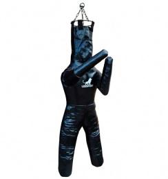 Двуногий манекен для бокса и борьбы, тент 900 гр/м, наполн. резиновая крошка