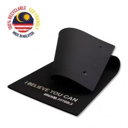 Мат для аэробики каучук 10 мм черный с кольцами
