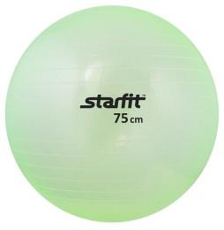 Мяч гимнастический SF-105 75 см, прозрачный, зеленый