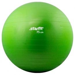 Мяч гимнастический SF-101 75 см, антивзрыв, зеленый