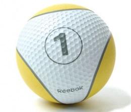 Мяч медбол Reebok 1 кг, желтый